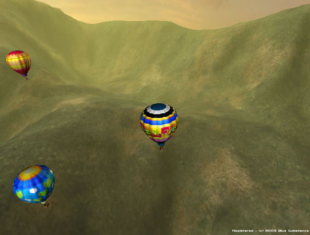 3D Hot Air Balloon Screen Saver