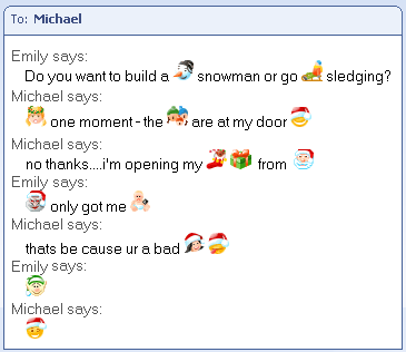 Christmas Emoticons For MSN Messenger