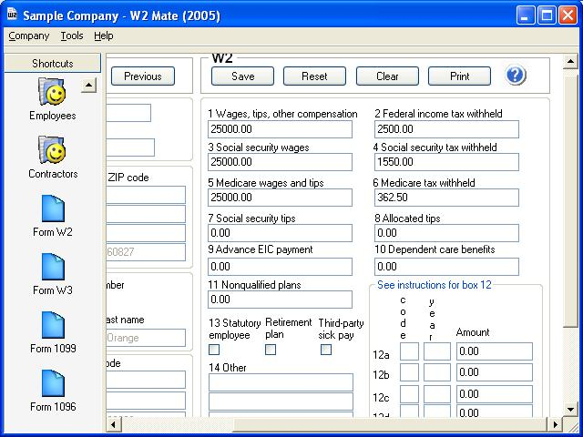 W2 MateW2 1099 Software