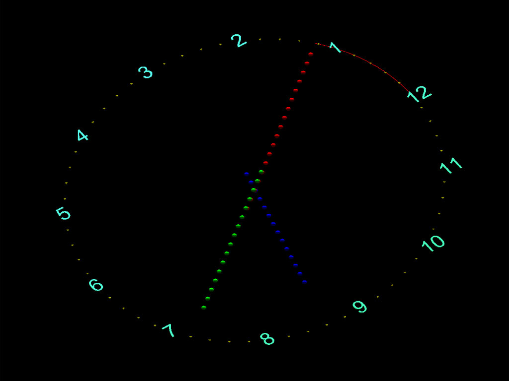 7art Rotary Clock ScreenSaver