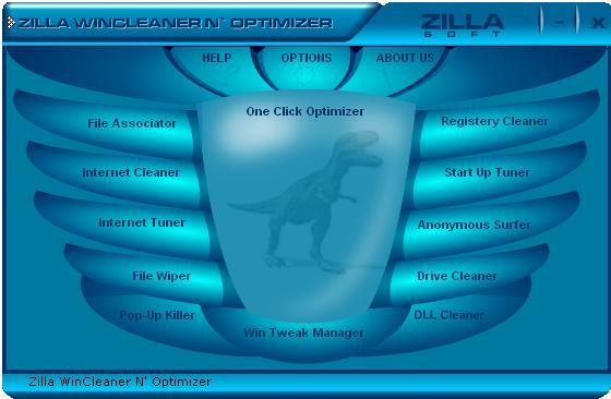 Zilla Free WinCleaner N' Optimizer