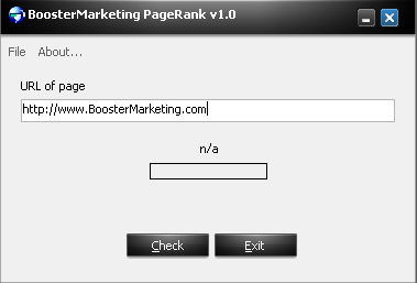 BoosterMarketing Page Rank
