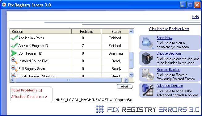 how to clean system registry