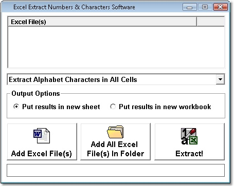 Excel Extract Numbers & Characters From All Cells Software