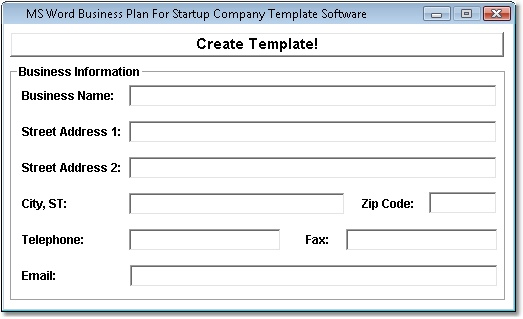 MS Word Business Plan For Startup Company Template Software