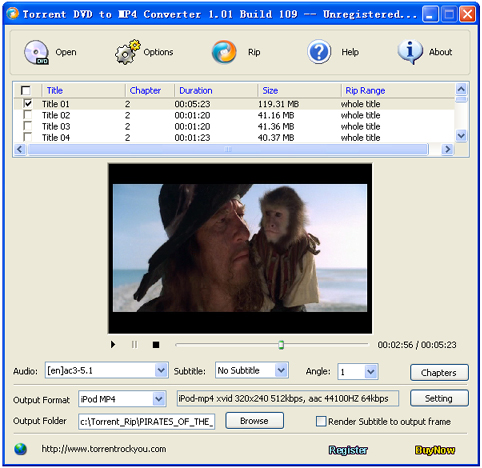 Torrent DVD to MP4 Converter