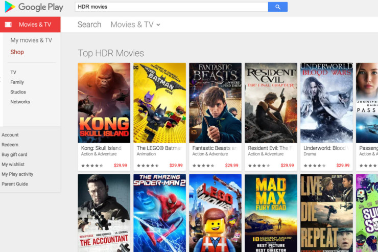 Google Play Movies 4K for Free